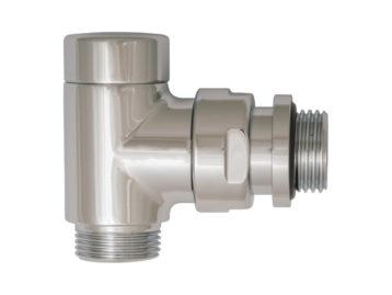 Клапан для отключения радиатора, HERZ RL-Design, угловой G1/2-M 22 х 1,5 хром
