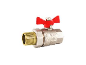 Кран RSk, шаровой HB  для воды, полнопроходной красная бабочка. 1/2″
