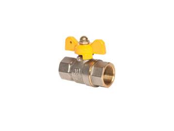 Кран RSk, шаровый для газа ВВ  Жёлтая бабочка Сертификаты